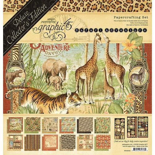 Graphic 45 - Safari Adventure Collection - 12 x 12 Deluxe Collector's Edition