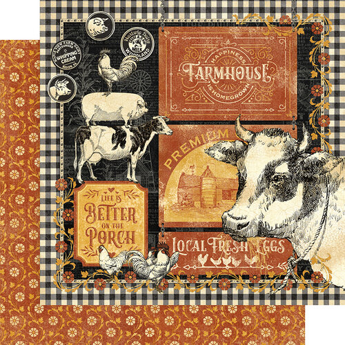 Graphic 45 - Farmhouse Collection - 12 x 12 Double Sided Paper - Farmhouse