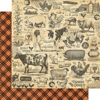 Graphic 45 - Farmhouse Collection - 12 x 12 Double Sided Paper - Gather Together