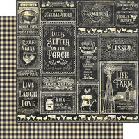 Graphic 45 - Farmhouse Collection - 12 x 12 Double Sided Paper - General Store