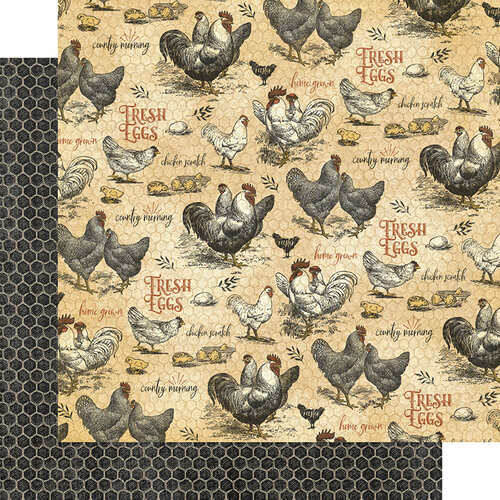 Graphic 45 - Farmhouse Collection - 12 x 12 Double Sided Paper - Locally Grown