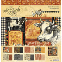 Graphic 45 - Farmhouse Collection - 12 x 12 Collection Pack