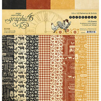 Graphic 45 - Farmhouse Collection - 12 x 12 Patterns and Solid Pad