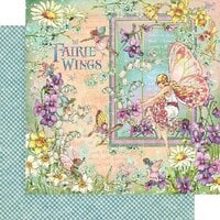 Graphic 45 - Fairie Wings Collection - 12 x 12 Double Sided Paper - Fairie Wings