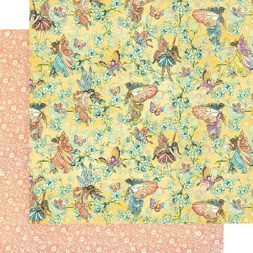 Graphic 45 - Fairie Wings Collection - 12 x 12 Double Sided Paper - Woodland Wishes