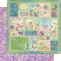 Graphic 45 - Fairie Wings Collection - 12 x 12 Double Sided Paper - Butterfly Whimsy