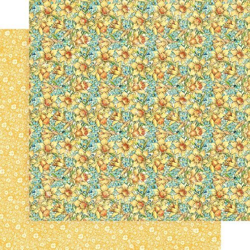 Graphic 45 - Fairie Wings Collection - 12 x 12 Double Sided Paper - Daffodil Dance