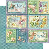 Graphic 45 - Fairie Wings Collection - 12 x 12 Double Sided Paper - Rainbow Sparkle