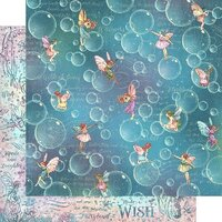 Graphic 45 - Fairie Wings Collection - 12 x 12 Double Sided Paper - Blowing Bubbles