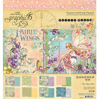 Graphic 45 - Fairie Wings Collection - 8 x 8 Paper Pad