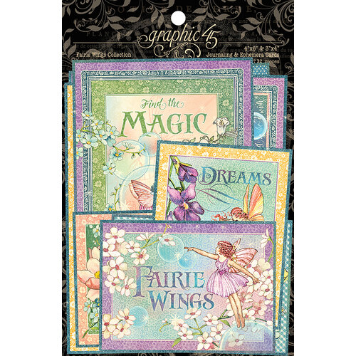 Graphic 45 - Fairie Wings Collection - Ephemera and Journaling Cards