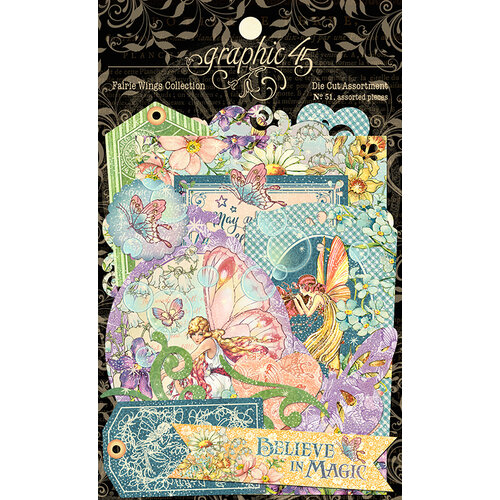 Graphic 45 - Fairie Wings Collection - Die Cut Assortment