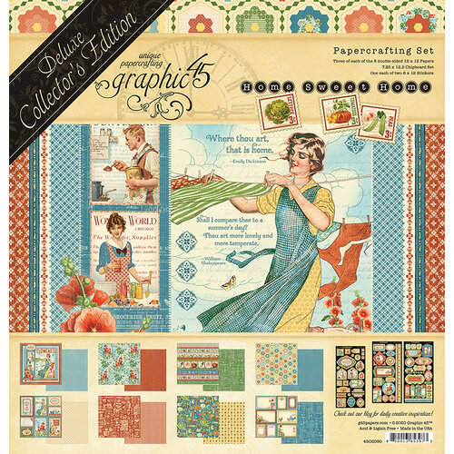 Graphic 45 - Home Sweet Home Collection - 12 x 12 Deluxe Collector's Edition