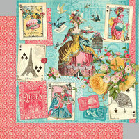 Graphic 45 - Ephemera Queen Collection - 12 x 12 Double Sided Paper - Ephemera Queen