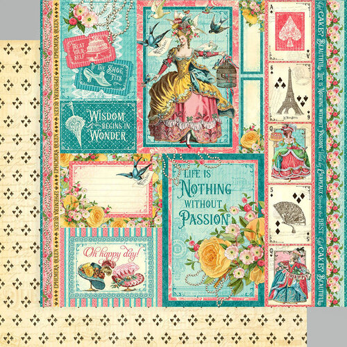 Graphic 45 - Ephemera Queen Collection - 12 x 12 Double Sided Paper - Oh Happy Day