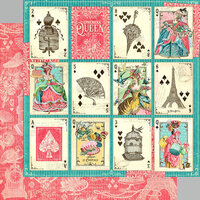Graphic 45 - Ephemera Queen Collection - 12 x 12 Double Sided Paper - A Winning Hand
