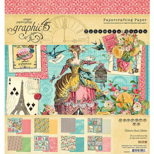 Graphic 45 - Ephemera Queen Collection - 8 x 8 Paper Pad