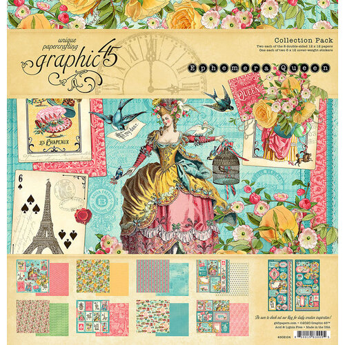 Graphic 45 - Ephemera Queen Collection - 12 x 12 Collection Pack