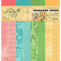 Graphic 45 - Ephemera Queen Collection - 12 x 12 Patterns and Solids Paper Pad