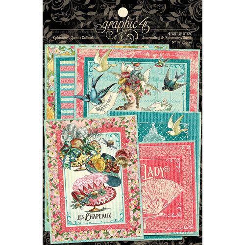 Graphic 45 - Ephemera Queen Collection - Ephemera and Journaling Cards