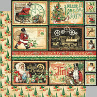 Graphic 45 - Christmas Time Collection - 12 x 12 Double Sided Paper - North Pole Express