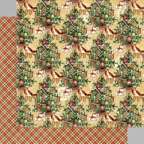 Graphic 45 - Christmas Time Collection - 12 x 12 Double Sided Paper - Trim the Tree