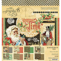 Graphic 45 - Christmas Time Collection - 8 x 8 Paper Pad