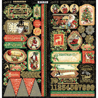 Graphic 45 - Christmas Time Collection - Stickers