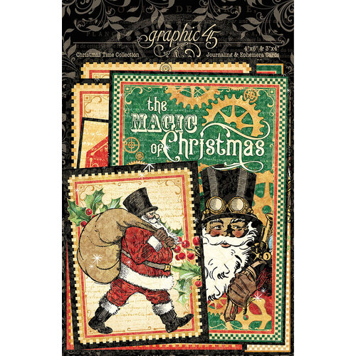Graphic 45 - Christmas Time Collection - Ephemera and Journaling Cards