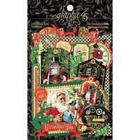 Graphic 45 - Christmas Time Collection - Die-Cut Assortment