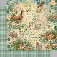 Graphic 45 - Woodland Friends Collection - 12 x 12 Double Sided Paper - Woodland Friends