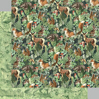 Graphic 45 - Woodland Friends Collection - 12 x 12 Double Sided Paper - Be Wild