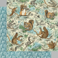 Graphic 45 - Woodland Friends Collection - 12 x 12 Double Sided Paper - Be Curious