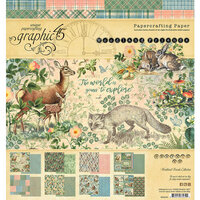 Graphic 45 - Woodland Friends Collection - 8 x 8 Paper Pad