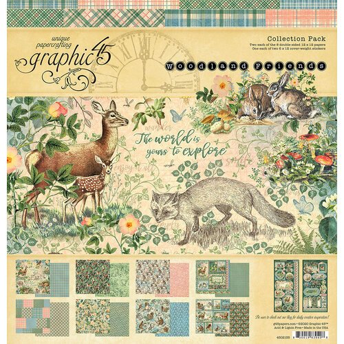 Graphic 45 - Woodland Friends Collection - 12 x 12 Collection Pack