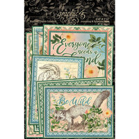 Graphic 45 - Woodland Friends Collection - Ephemera and Journaling Cards