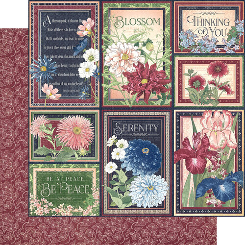 Graphic 45 - Blossom Collection - 12 x 12 Double Sided Paper - Delight