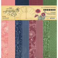 Graphic 45 - Blossom Collection - 12 x 12 Patterns and Solids Pad