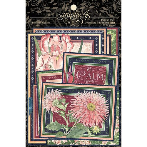 Graphic 45 - Blossom Collection - Ephemera and Journaling Cards