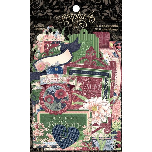 Graphic 45 - Blossom Collection - Die-cut Assortment
