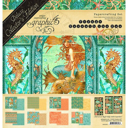 Graphic 45 - Voyage Beneath the Sea Collection - 12 x 12 Deluxe Collector's Edition