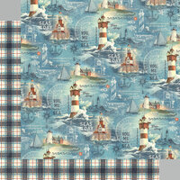 Graphic 45 - Catch Of The Day Collection - 12 x 12 Double Sided Paper - Ship Ahoy!