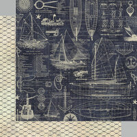 Graphic 45 - Catch Of The Day Collection - 12 x 12 Double Sided Paper - Anchors Aweigh