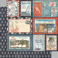 Graphic 45 - Catch Of The Day Collection - 12 x 12 Double Sided Paper - Smooth Sailing