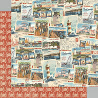 Graphic 45 - Catch Of The Day Collection - 12 x 12 Double Sided Paper - Coastal Breeze