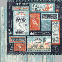 Graphic 45 - Catch Of The Day Collection - 12 x 12 Double Sided Paper - Seas The Sunshine
