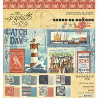 Graphic 45 - Catch Of The Day Collection - 8 x 8 Paper Pack