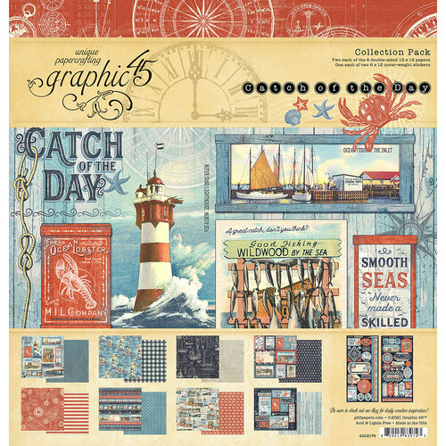 Graphic 45 - Catch Of The Day Collection - 12 x 12 Collection Pack