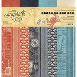 Graphic 45 - Catch Of The Day Collection - 12 x 12 Patterns and Solids Pack