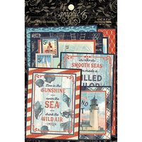 Graphic 45 - Catch Of The Day Collection - Journaling Cards